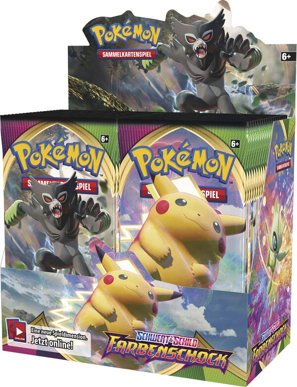 Pokemon Farbenschock Schwert & Schild Booster Display