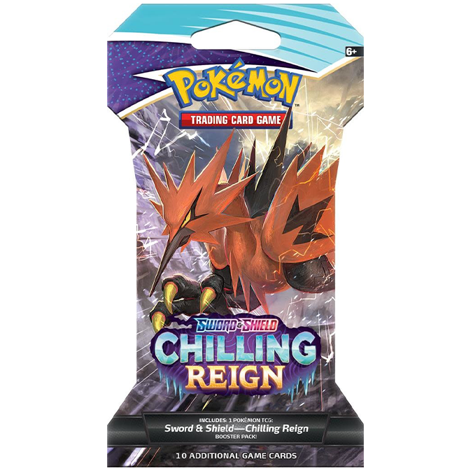 Pokemon Sword & Shield Chilling Reign  Sleeved Booster ENG