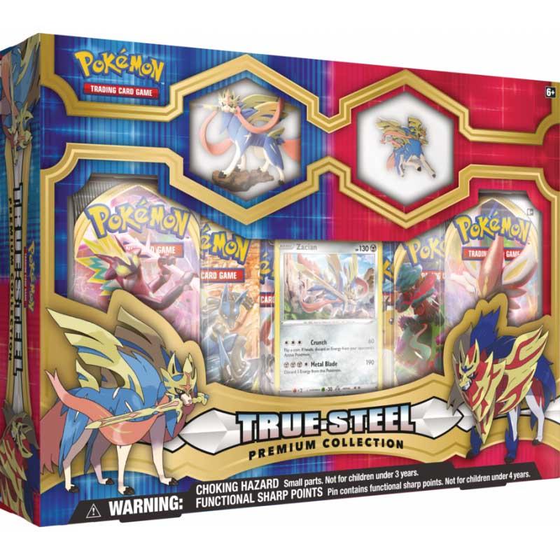 Pokemon Premium True Steel Figure & Pin Collection Zacian