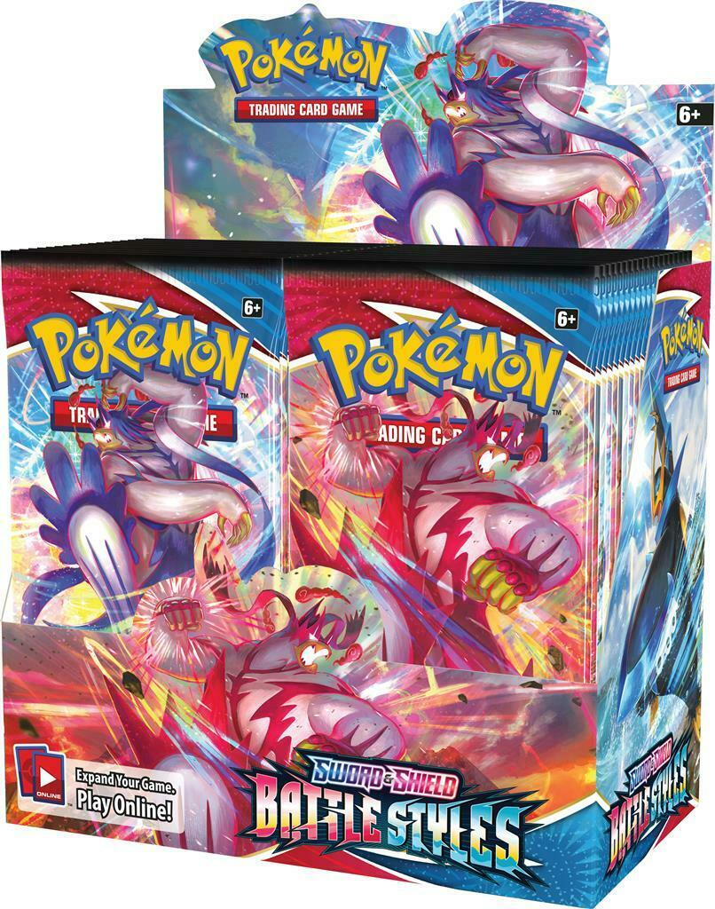 Pokemon Sword & Shield Battle Styles Booster Display