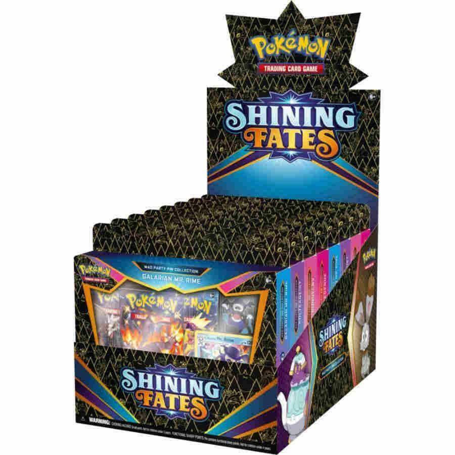 Pokemon Shining Fates Pin Box Display sealed