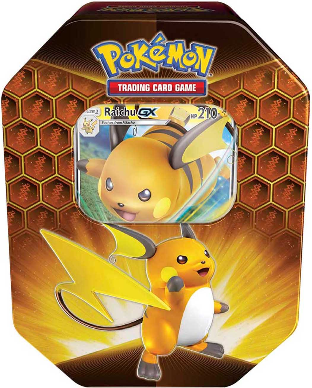 Pokemon Hidden Fates Tin Box Raichu