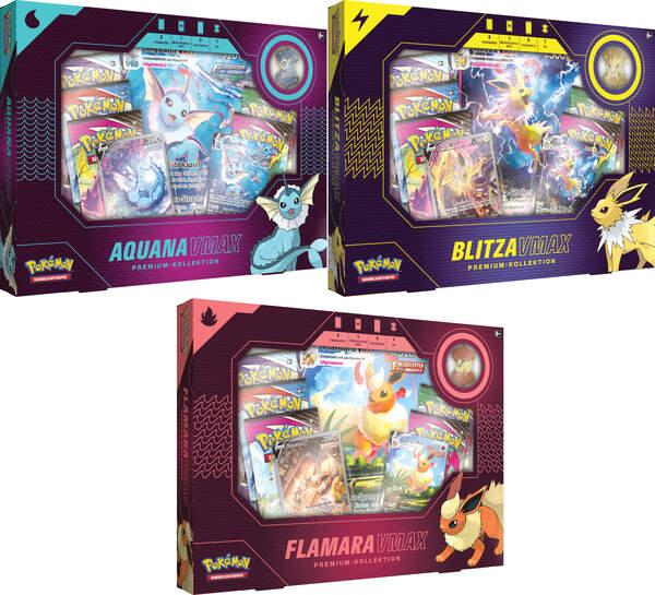 Pokemon Dezember VMAX Boxen