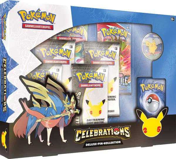 Pokemon 25th Anniversary Deluxe Pin Box Zacian VORBESTELLUNG