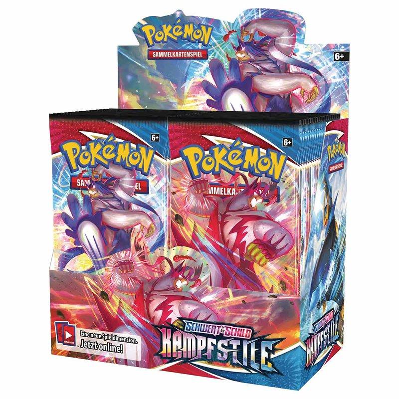 Pokemon Schwert & Schild 5 Kampfstile Booster Display