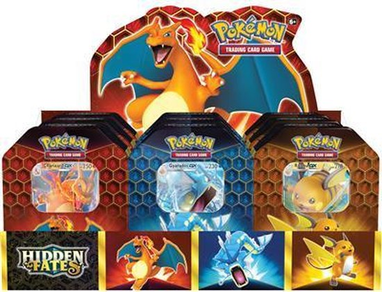 Pokemon Hidden Fates Tin Box 9er Display