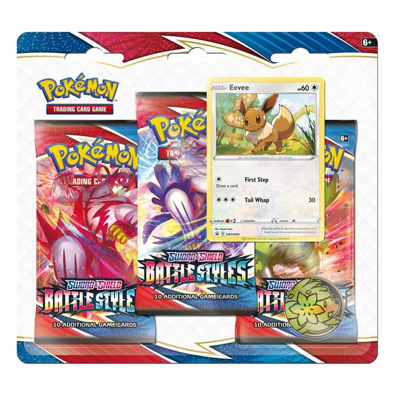 Pokemon Battle Styles 3er Booster Blister Eevee englisch