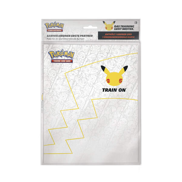 Pokemon 25th Annisversary Sammelalbum A5 für Oversize Cards + Pikachu Oversize Promokarte