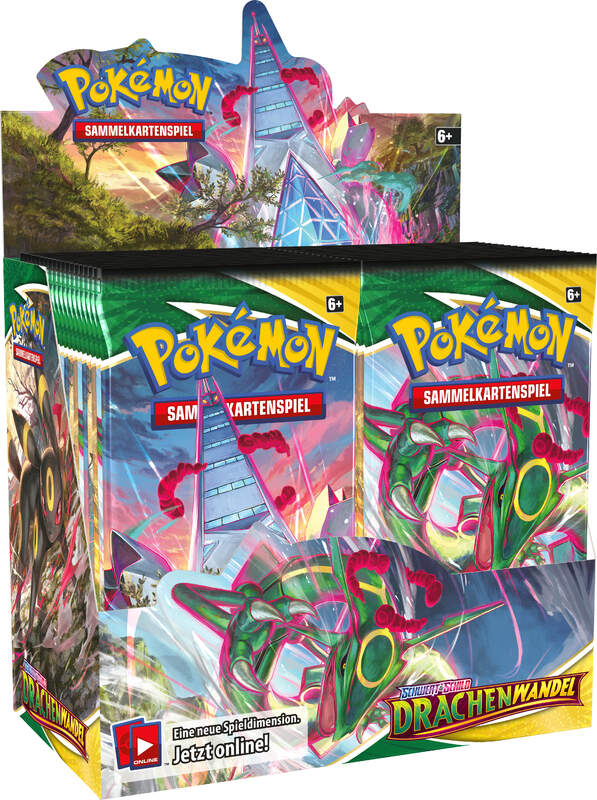 Pokemon Schwert & Schild Drachenwandel Booster Display