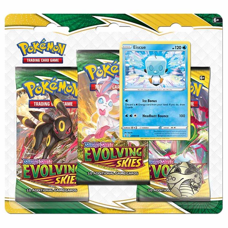 Pokemon Evolving Skies 3 Pack Blister Eiscue