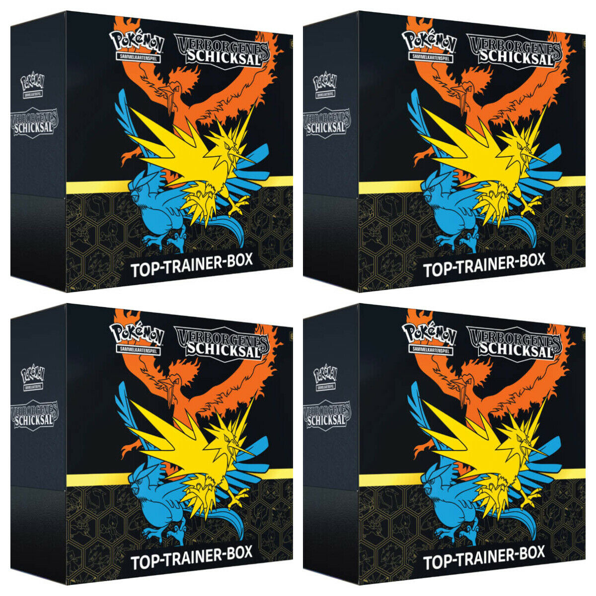 Pokemon Verborgenes Schicksal Top Trainer Box 4x