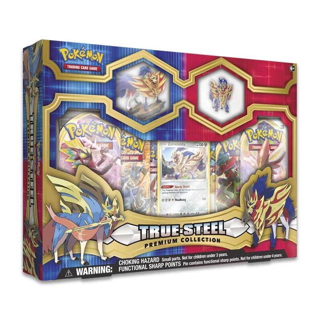 Pokemon Premium True Steel Figure & Pin Collection Zamazenta