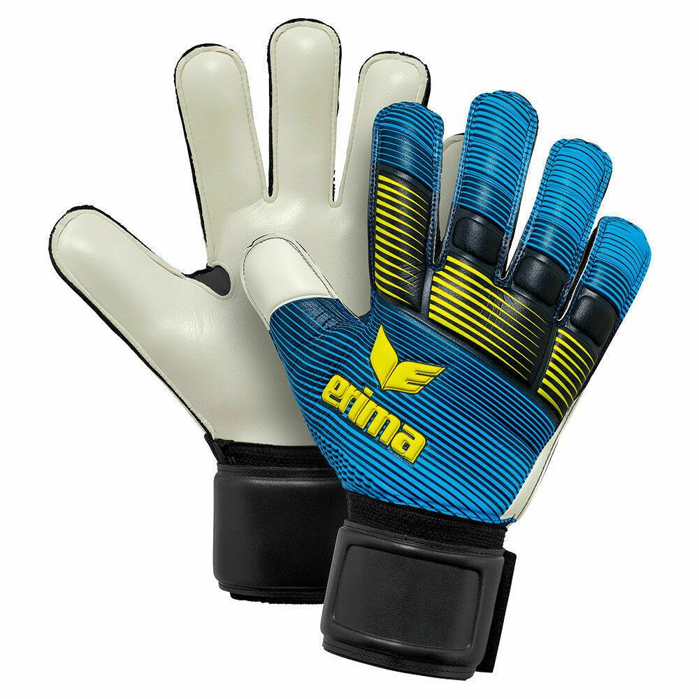 Erima Skinator Protect Fußball Torwarthandschuhe schwarz blau Fingerschutz