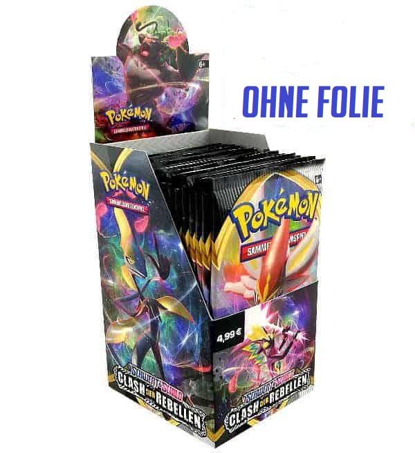 Pokemon Clash der Rebellen 18er Display OHNE FOLIE