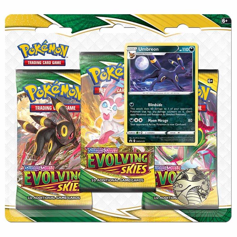 Pokemon Evolving Skies 3 Pack Blister Umbreon
