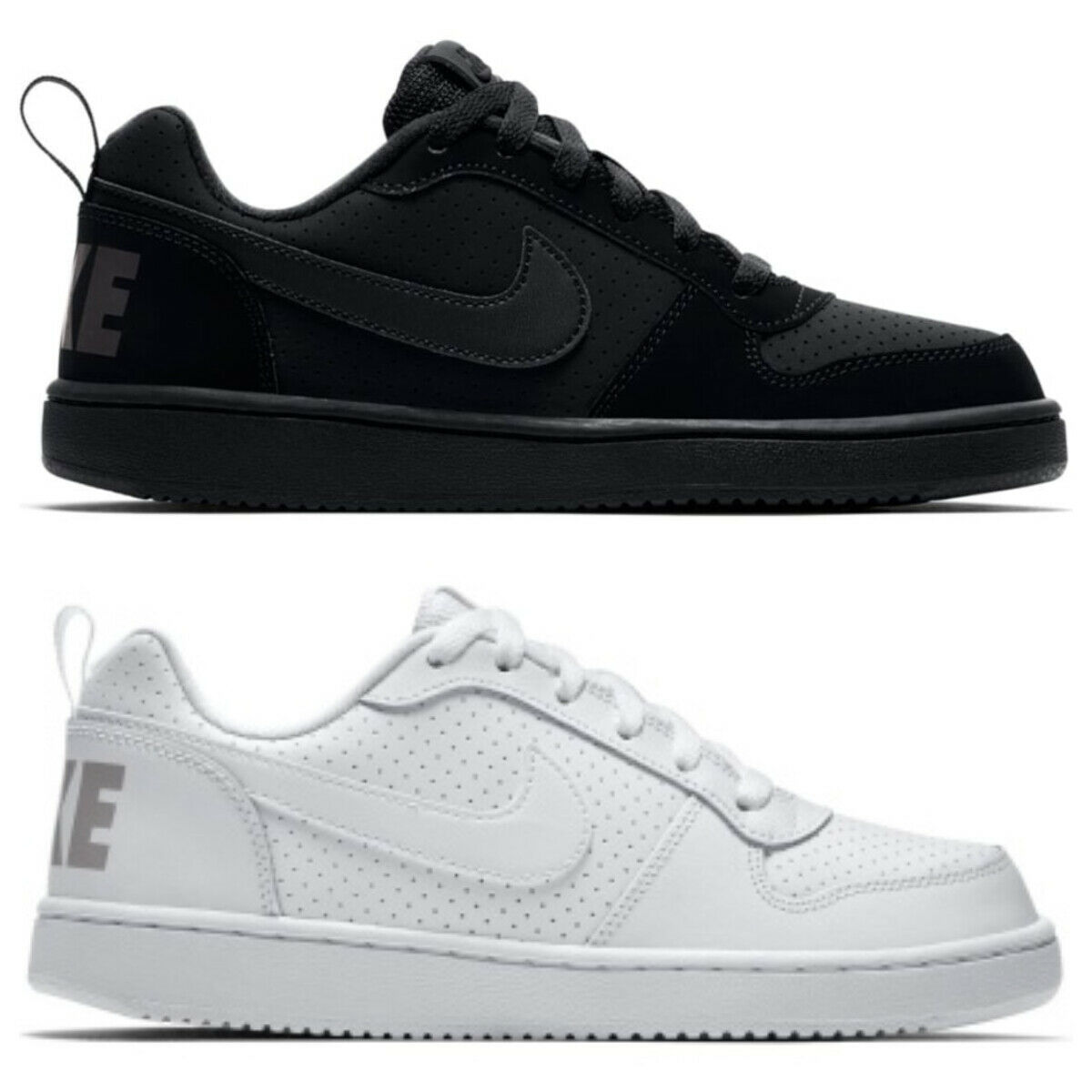 Nike Court Borough Low GS Kinder Damen Sneaker Schuhe 839985 schwarz weiß