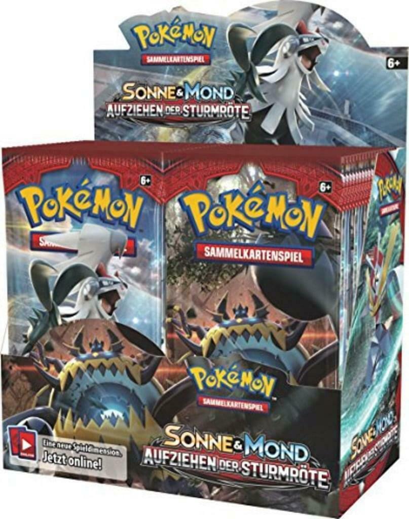 Pokemon Booster Pack Sonne & Mond Aufziehen der Sturmröte