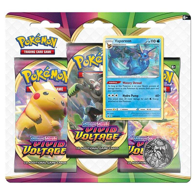 Pokemon Vivid Voltage 3er Pack Blister Sword & Shield Vaporeon